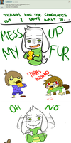 How to fluff Asriel by SlyMarie