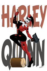 Harley Quinn Pinup by MightyFooda
