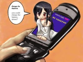 Sadako says Low Battery by vegetto-vegito