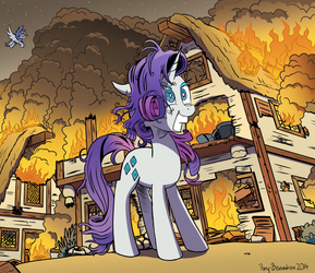 Some Mares Just Want to Watch The World Burn by Pony-Berserker