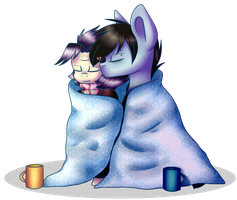 Covered with a blanket by DespotShy
