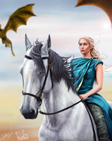 Mother of Dragons - Collaboration by lara-cr
