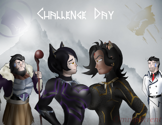 Rwby: The Black Neko on Challenge Day by Omnipotrent