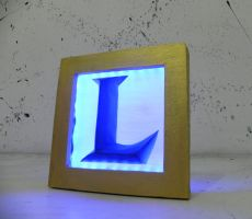 League of Legends logo night lamp by TheGoblinFactory