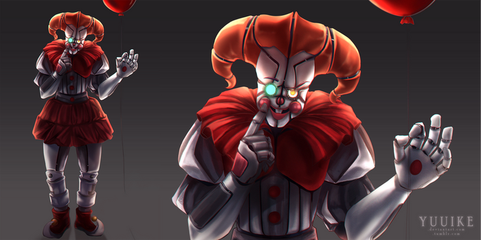 Pennywise x FNAF Circus Baby mashup [+Speepaint] by yuuike