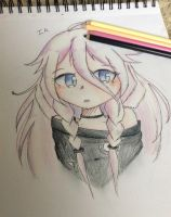 Vocaloid~ IA (Traditional Art) by Mad-Squib-Draws