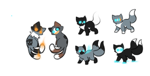 Ghost kits for MEME---QUEEN and PennyADayAdopts by leafstep