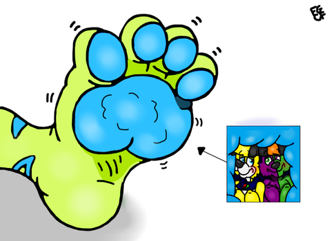 Inside tufts paw pad by Coolfruits