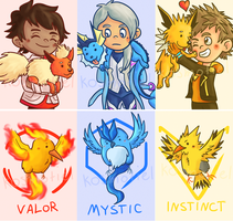 Pokemon Go - Keychain Designs by Kosmotiel