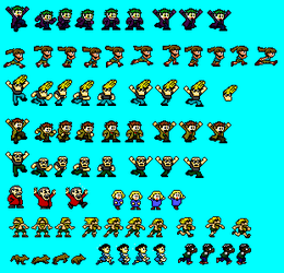 Mega Man Civilians Family Fun Pack of Sprites by The-Russian-Gestapo