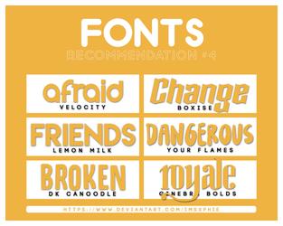 +FONTS PACK RECOMMENDATION #004 by imsxphie