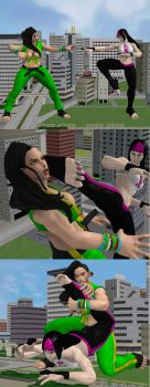 Laura And Juri's Match by roodedude
