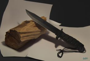 Knife on Cherrywood life study by teyoliia