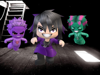 Buddy Poke-Hex Maniac and her ghostly friends by TheHylianHaunter