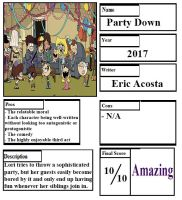 Pros and Cons - Party Down by Ezmanify