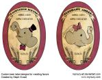 Custom commissioned beer labels by Myrcury-Art