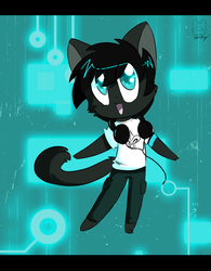 Chibi Commission for KuriFatales by Void-Shark