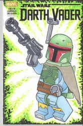 Lego Boba Fett sketch cover by rodneyfyke