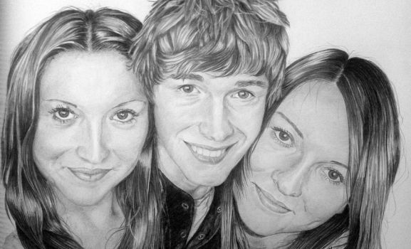 My two older sisters and younger brother by elgert-j