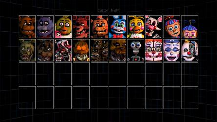 Ultimate Custom Night Roster Updated! by FNAFplayer2016