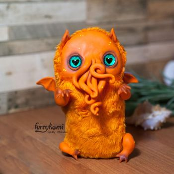 Custom made baby Cthulhu by Furrykami-creatures