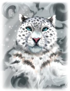 Icy Snow Leopard by KarlyMacDonald