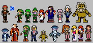 Ocarina of Time Sprites by ThuhJesheekuh