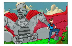 Iron Giant pin up by Marvin000