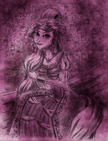 Sketch: Regency Rapunzel by Whitestar1802