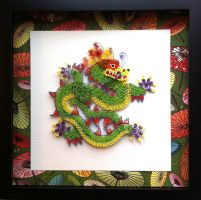 Quilled Dragon of Good Fortune by SpiralArtisan