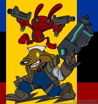 Sam and Max X Deadpool and Cable by Poila-Invictiwerks