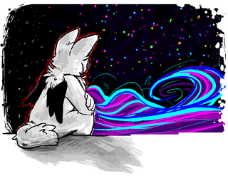 alone at the edge of a universe by JoyBoys