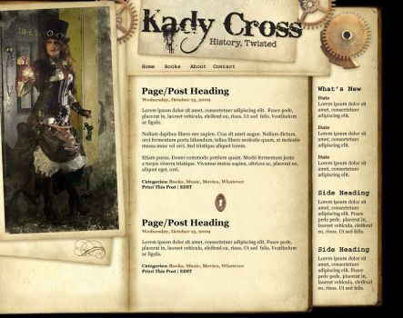 Kady Cross's Webpage by DizyDezi