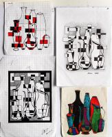 Composition with jugs - sketches 2000 by Aynur-Sfera-Sky