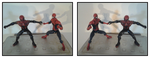 Spidey Action Figures in 3D Mirror by xmancyclops