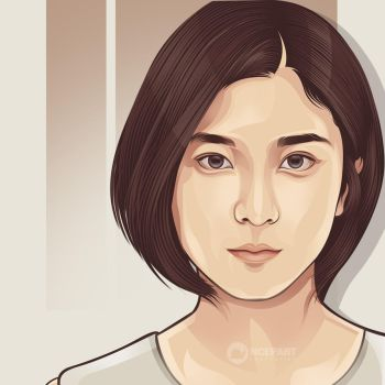 beauty japanese on vector portrait by ncepart by Ncepart28