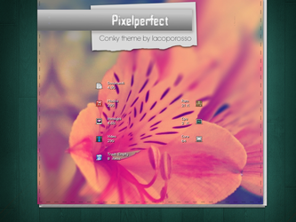 Pixelperfect conky theme by iacoporosso