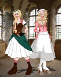Medieval Blondes by erin-hime