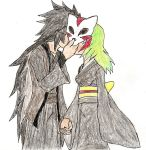 Rqst 6: A Kiss Behind the Wolf Mask by NeonNeoz