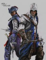 Connor Kenway and Aveline by Hybrid-Theory101