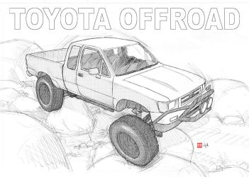 Toyota 4x4 pickup offroad by randychen