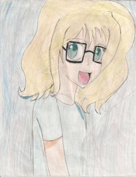 My Manga Self Portrait by MangaForever13