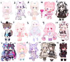 Adoptable Clearout gacha closed by BabyPippo