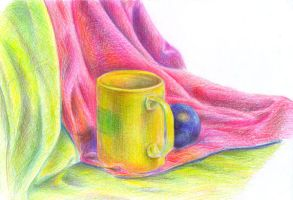 Cup and plum by jkBunny