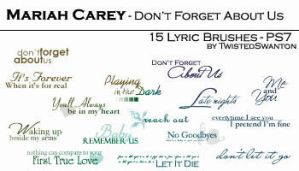 Mariah Carey tiny text lyrics by twistedswanton
