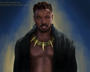 Killmonger - Black Panther by Arabesque91
