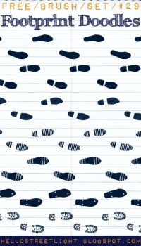 Free Brush Set 29: Footprint doodles by hellostreetlight