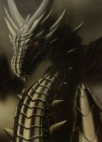 Black dragon by krisbuzy