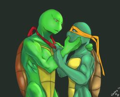 Raphael and Mikey by Klankey by tmntraphfan