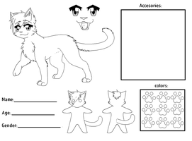 fursona ref sheet template by candy-behemoth